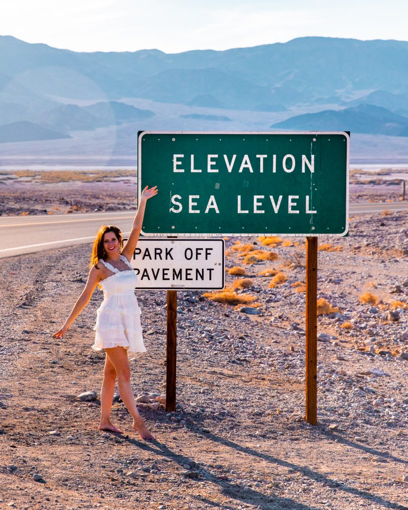 One Day in Death Valley Itinerary Sea Level