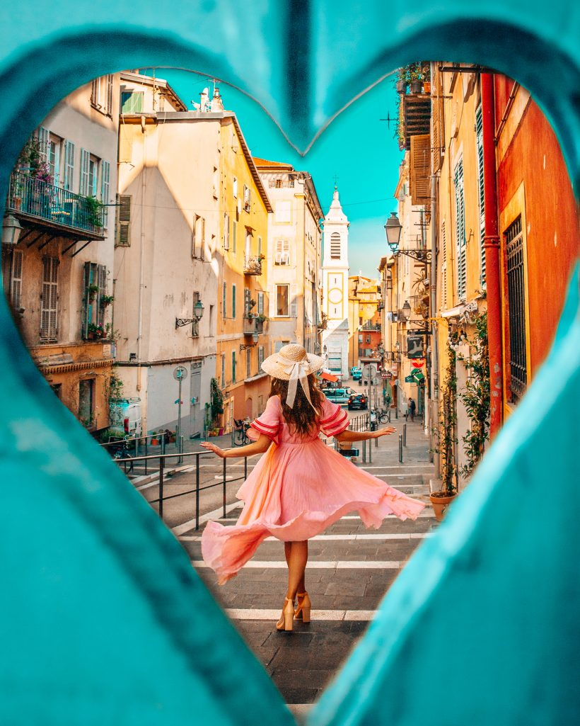 Heart Shaped Window in Nice, France