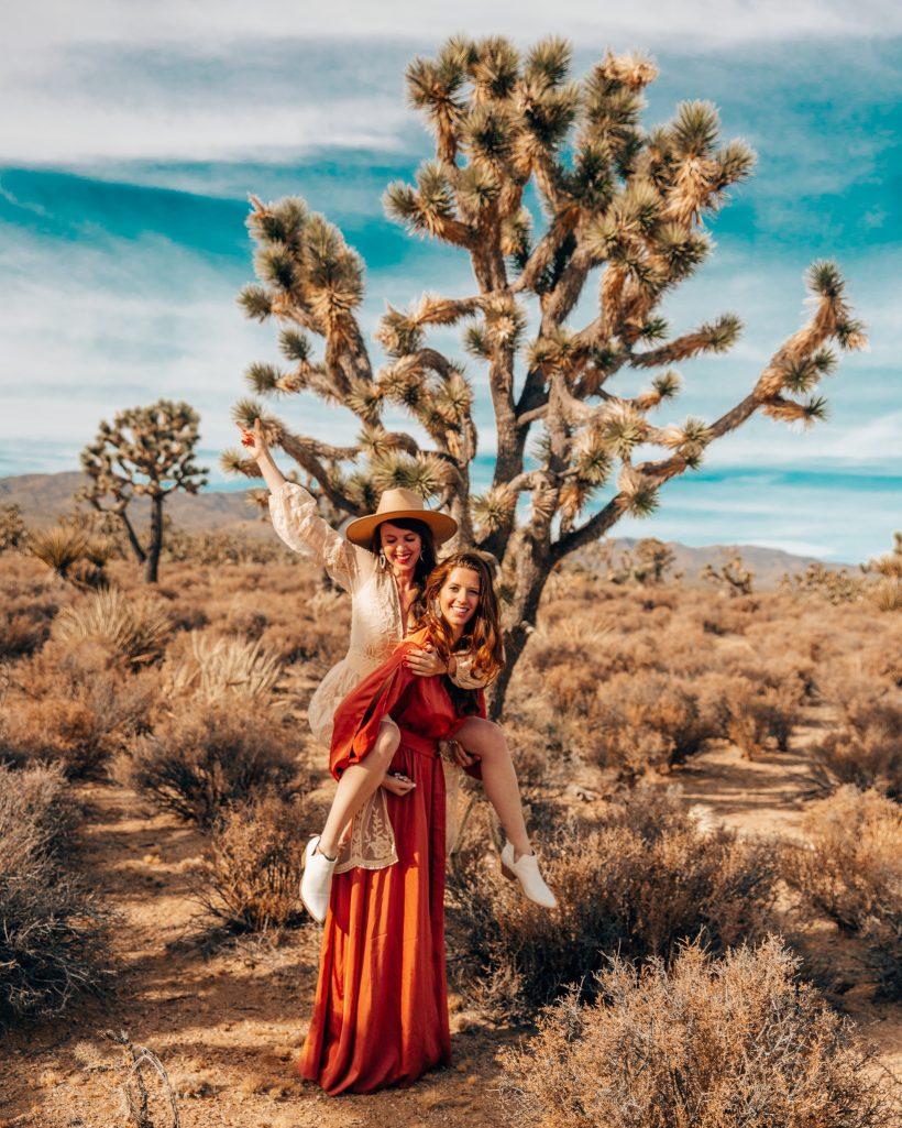 Bettina and Talia at Joshua Tree Park
