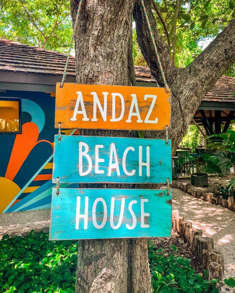 Andaz Beach House Sign