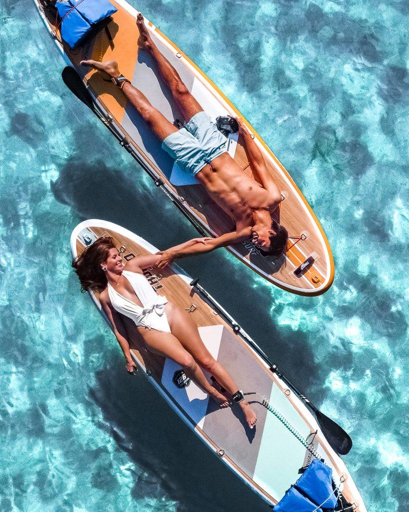 Paddle Board Drone Photo