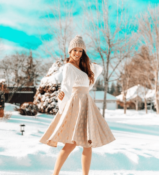 Chicwish Gold A-Line Skirt 1