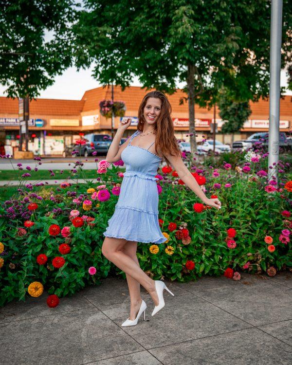 Morning Lavender Smocked Mini Dress 2