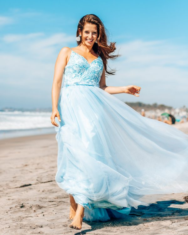 A-Line/Princess Sleeveless Spaghetti Straps with Tulle 2