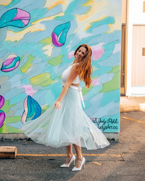 Chicwish Mint Green Tulle Maxi Skirt 1