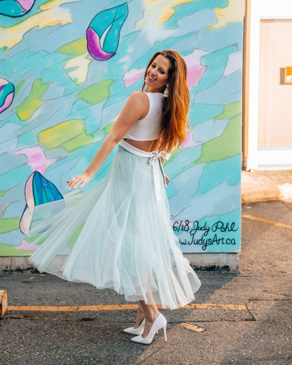 Chicwish Mint Green Tulle Maxi Skirt 2