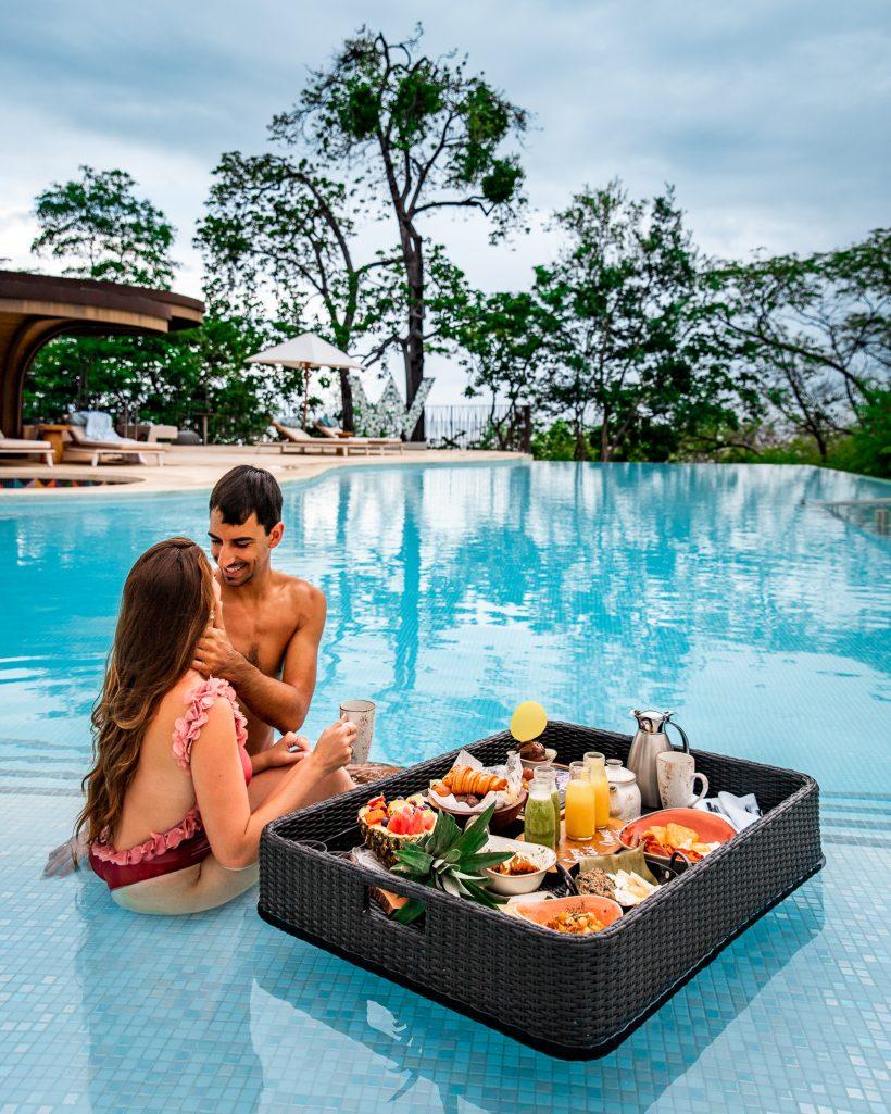 W Costa Rica Floating Breakfast