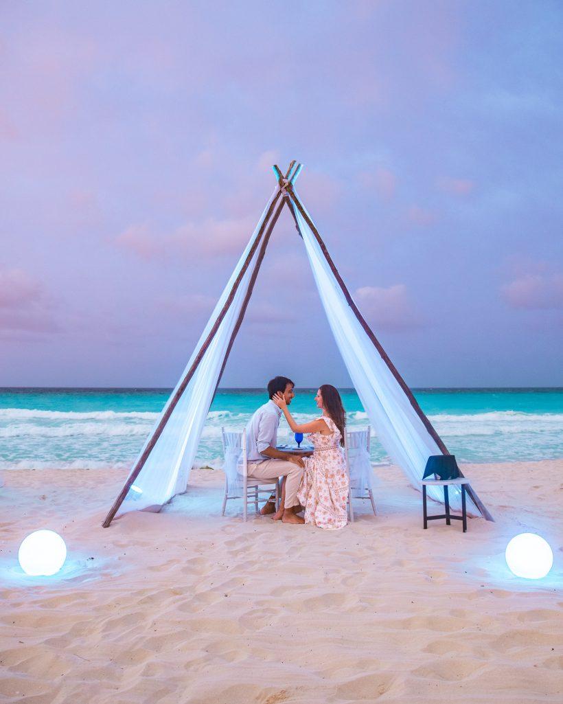 Hyatt Zilara Cancun Resort Romantic Private Dinner