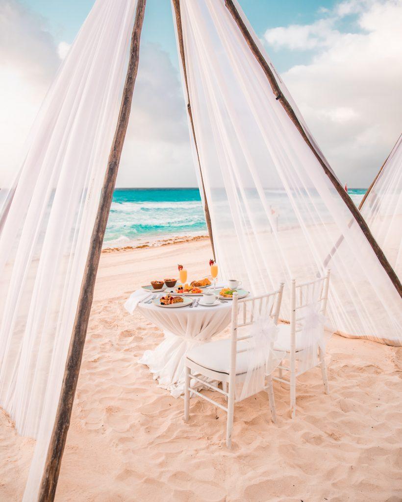 Hyatt Zilara Cancun Resort Romantic Dinner