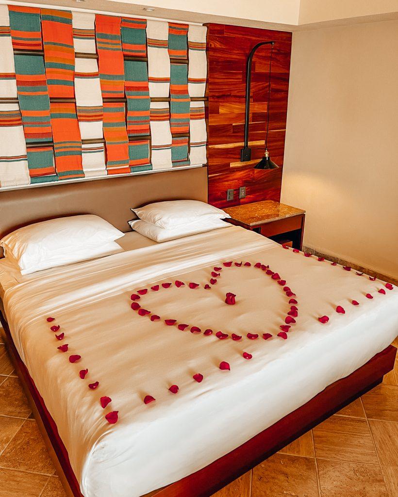 Hyatt ZIva Puerto Vallarta Bed Rose