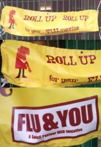 Flu Roll Up Roll Up Banner
