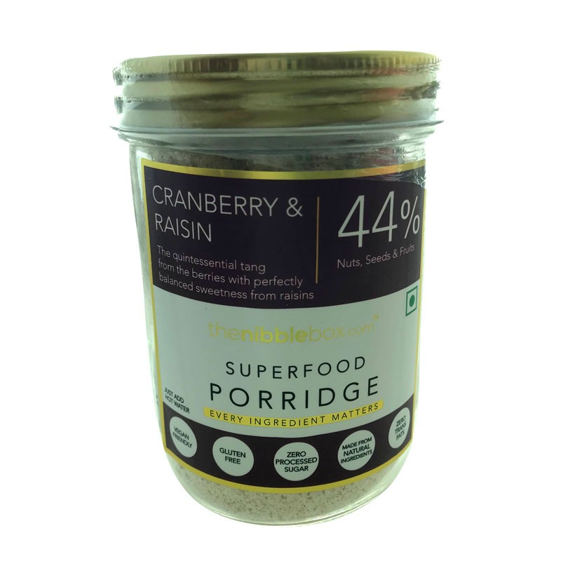 TheNibbleBox Cranberry And Raisins Superfood Porridge Jar