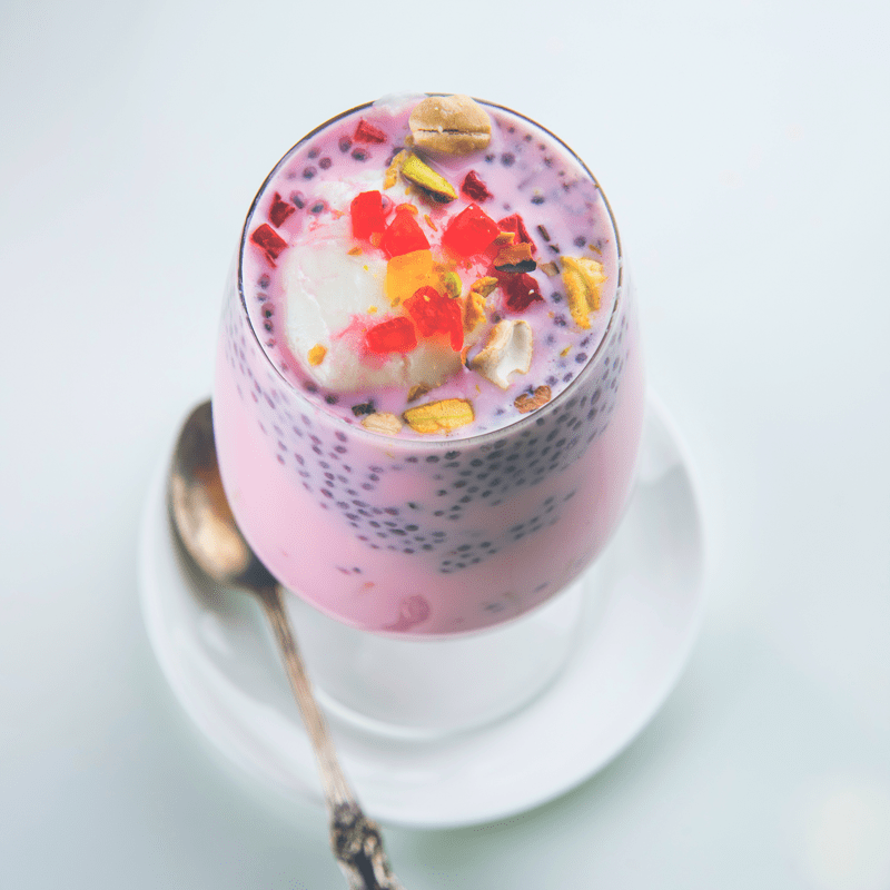 TheNibbleBox Chia Seed Pudding Rose