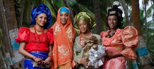 Ladies in Their Cultural Attires - Ethnic Groups In Nigeria