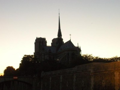 Notre Dame's spire stretches towards the sky, pulls hamstring.