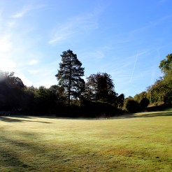 The grounds of Wotton House on a cold clear morning