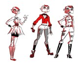 """Character designs for Jane from my comic """"The Wrong Girl"""""""