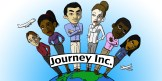 """Early logo designed for the game """"Journey Inc."""""""