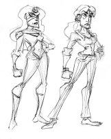 Design sketches for Spider Woman
