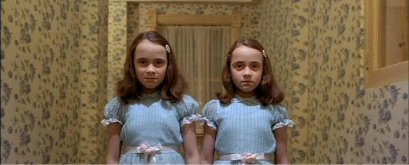 The Grady twins from The Shining. Forever and ever and ever.
