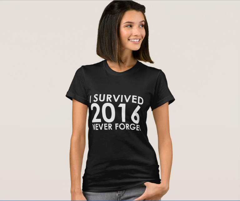 We Survived 2016 T-Shirt: Never Forget / TheNoker.com / Ringing in the new year and waving farewell to the worst year ever in style.