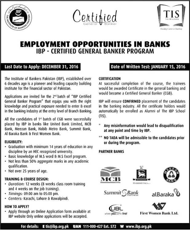 IBP Institute Banker Program 2021 Certified General Banker Program Eligibility Criteria Apply Online Application Form