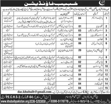Khubaib Foundation Pakistan Jobs 2021 Accountants Principals Application form Eligibility Criteria Terms and Conditions