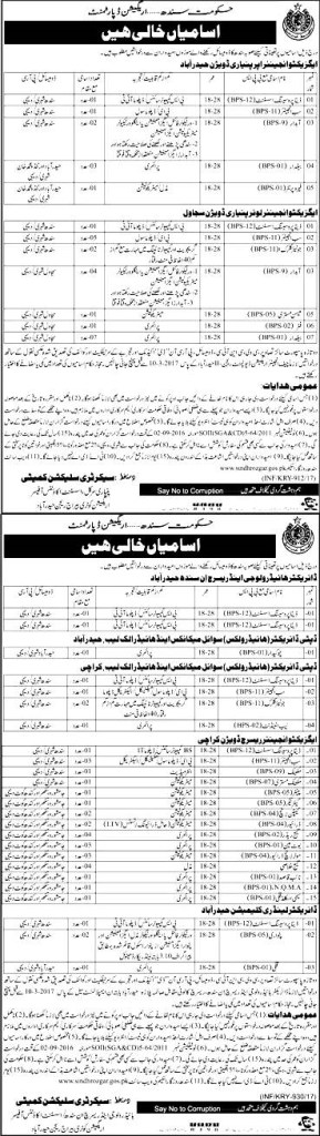 Irrigation Department Sindh Jobs 2017 Last Date Eligibility Criteria Data Processing Assistants
