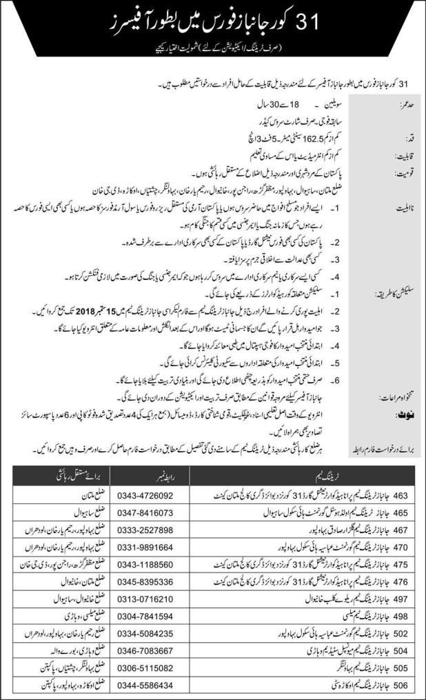 Mujahid Force Jobs 2018 Sipahi Download Application Form Eligibility Criteria Procedure to Apply
