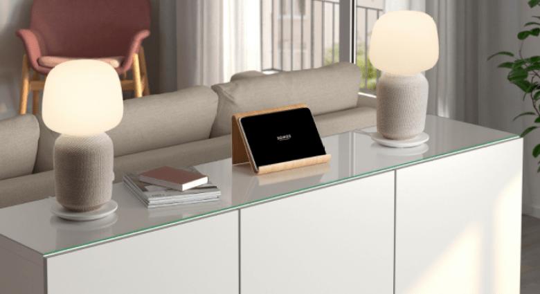 SYMFONISK Table Lamp with speaker in white