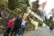 Walking up the pathway to the castle of Sintra
