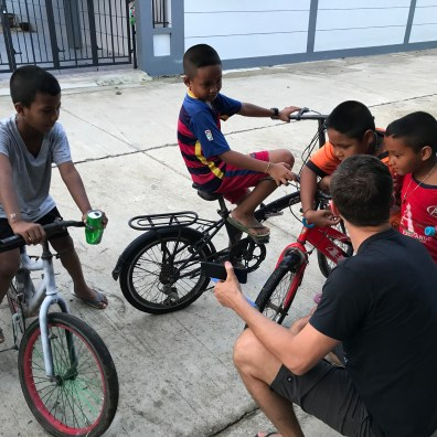 the neighborhood boys love Aaron so he's been able to preach to them