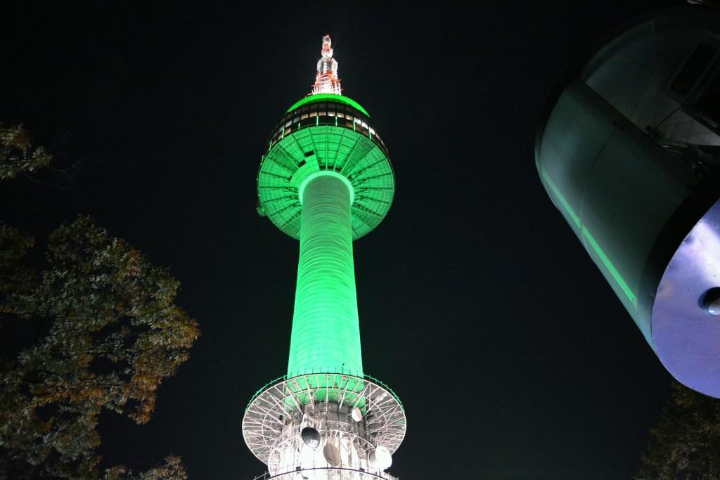 Seoul Tower at night