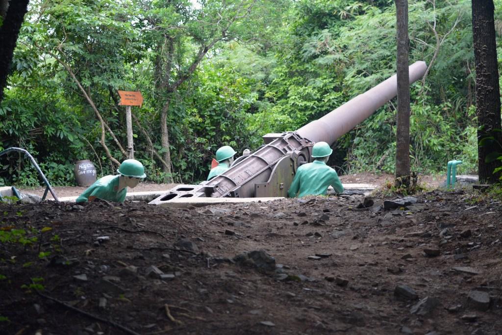 Anti-aircraft cannon. Dooh.
