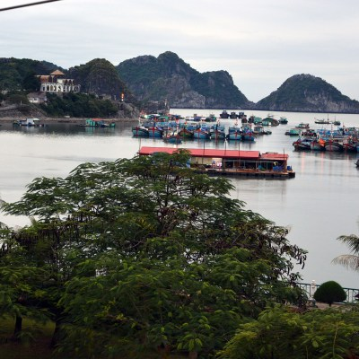 Port view in Cat Ba Island, Vietnam