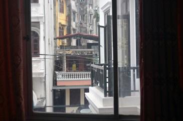 Sad view from Ha Long Happy Hostel, Ha Long City, Vietnam
