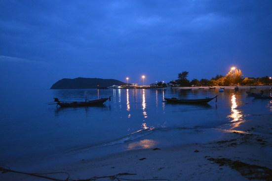 Beach at night, Koh Phangan, Thailand