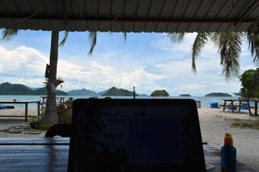 Working at Wild Pasir Panjang beach