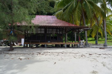 Open dormitory on Wild Pasir Panjang beach