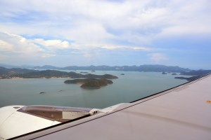 Flying to Langkawi island, Malaysia