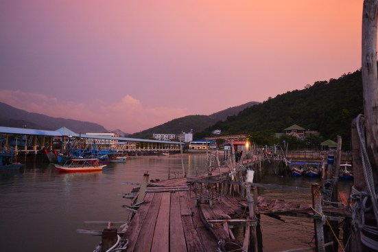 Port in Penang National Park, Malaysia