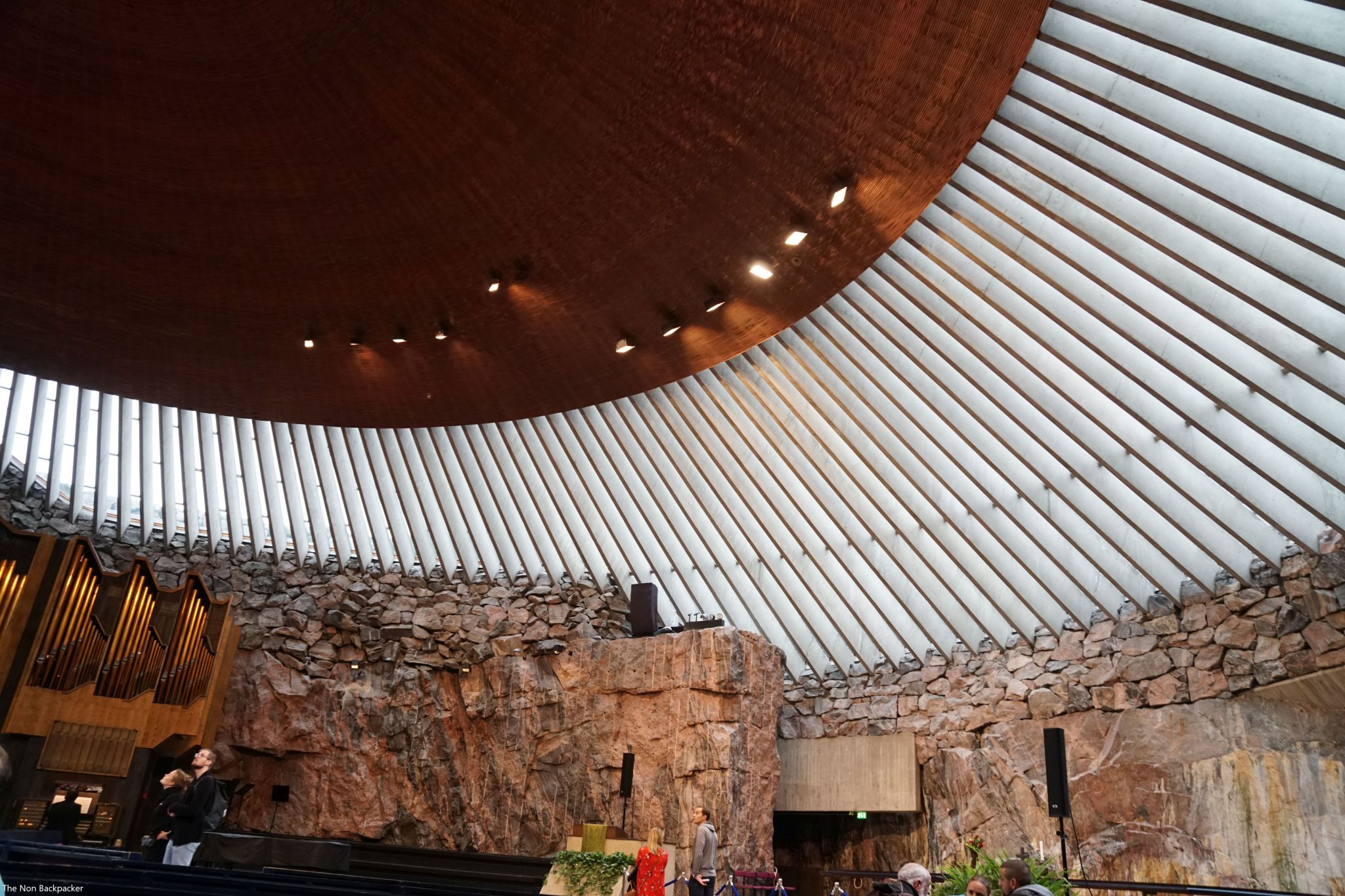 The roof of the Rock Church