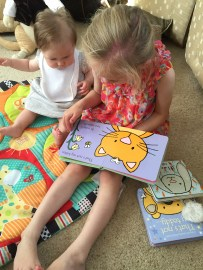 The Wildcat reading stories to Bunny.