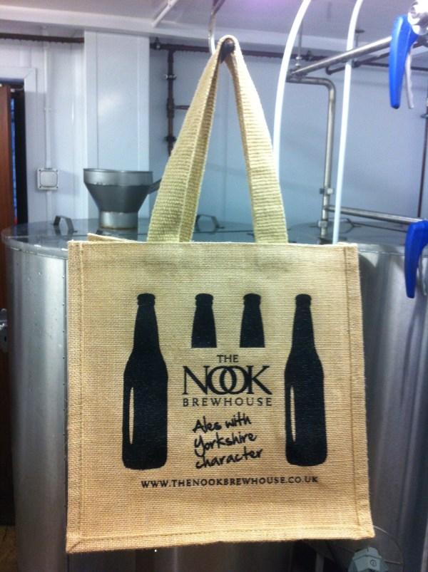 Nook Brewhouse Jute Bottle Bag