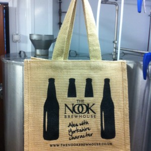 Nook Brewhouse Jute Bottle Bag
