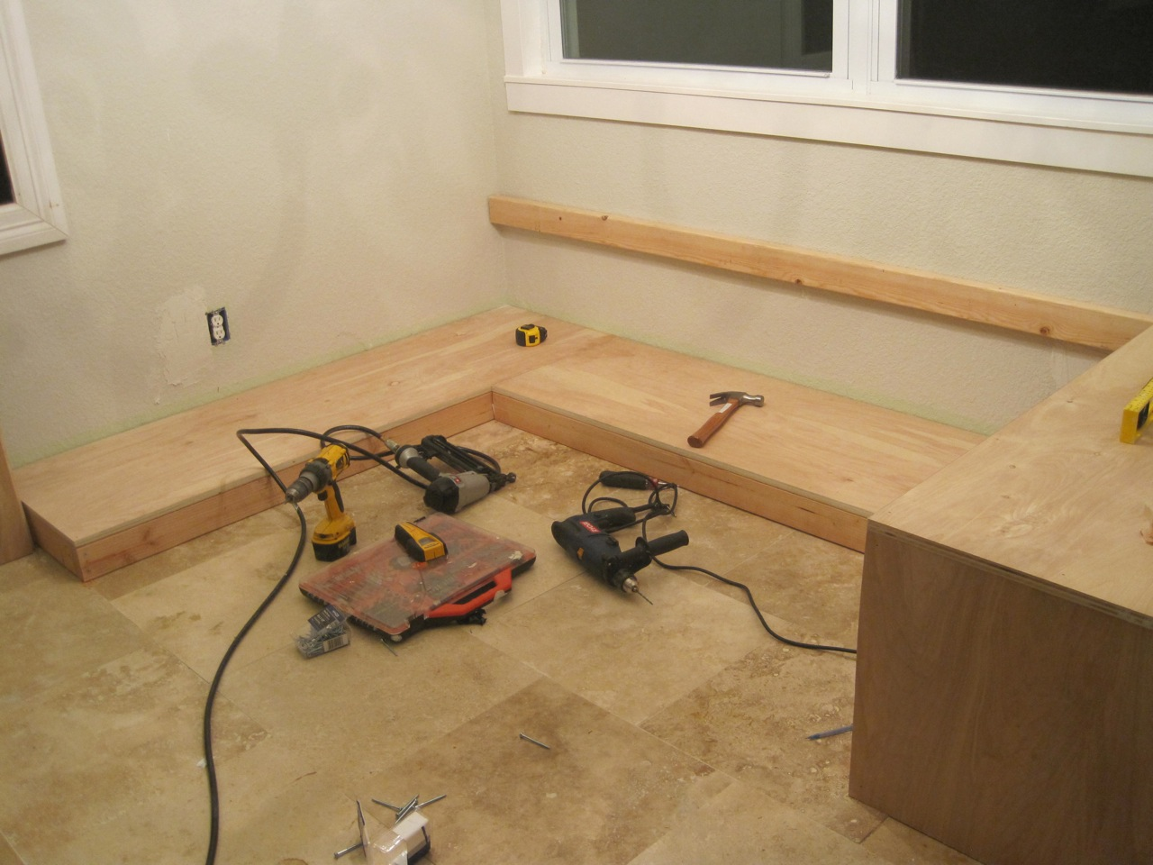 diy kitchen bench with storage remodeling honolulu build it  seating for the nook