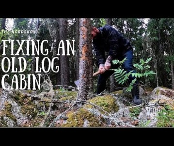 Fixing an old log cabin | Off Grid Homestead