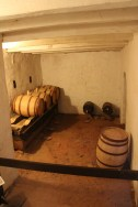 The best place in the tavern: the wine cellar.