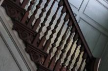 Mahogany staircase
