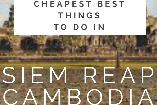 Cheapest things to do in Siem Reap